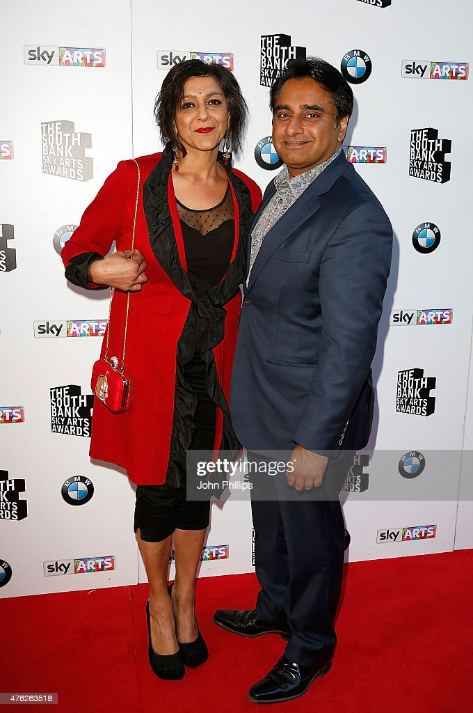 Meera Syal and Sanjeev Bhaskar attend the South Bank Sky Arts Awards at The Savoy Hotel on June 7 2015 in London England