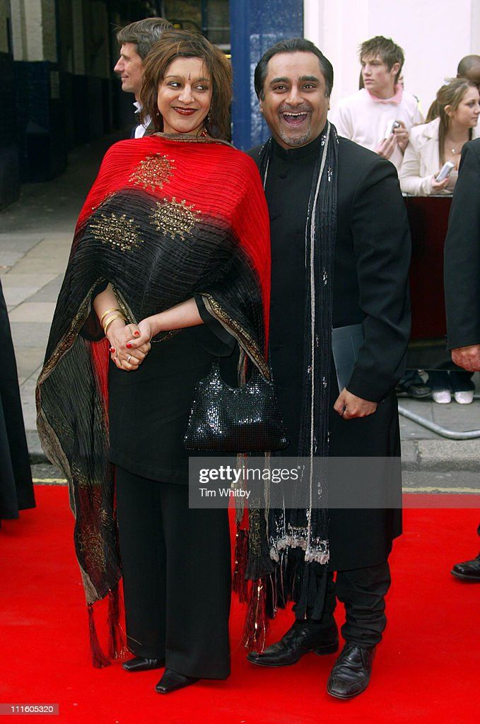 Meera Syal and Sanjeev Bhaskar during The Pioneer British Academy Television Awards Outside Arrivals at Royal Theatre in London Great Britain