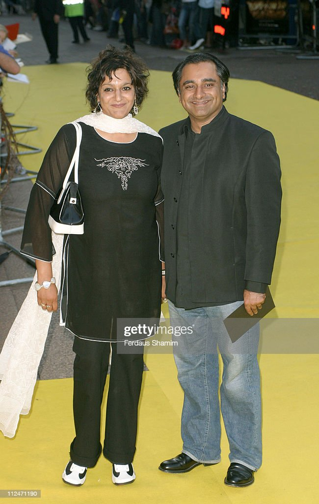 Meera Syal and Sanjeev Bhaskar during 'The Village' London Premiere Arrivals at Odeon West End in London England Great Britain