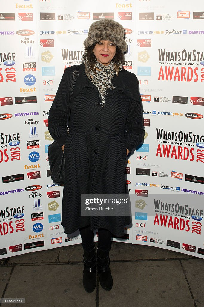 Meera Syal attends the Whatsonstage.com Theare Awards nominations launch at Cafe de Paris on December 7, 2012 in London, England.