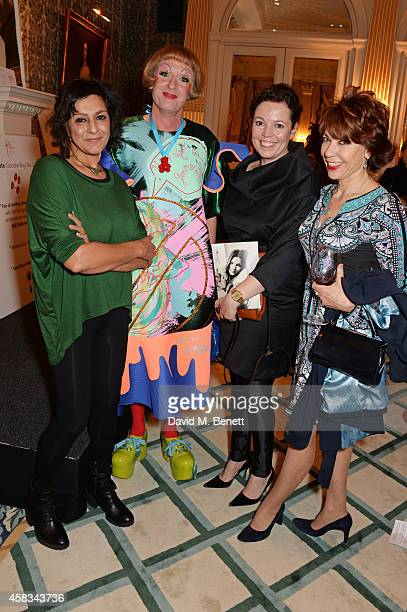 Meera Syal Grayson Perry Olivia Colman and Kathy Lette attend a fundraising event for The Eve Appeal at Claridge's Hotel on November 3 2014 in London...