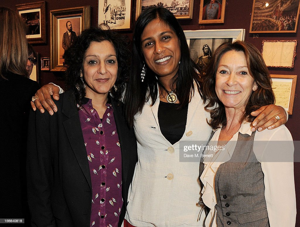Meera Syal, Lolita Chakrabarti and Cherie Lunghi attend Tricycle Theatre's 'Red Velvet: The Director's Party' on November 22, 2012 in London, England.