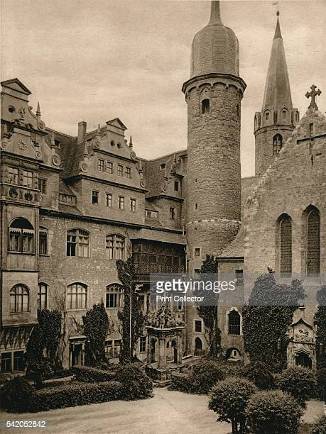 Meersburg Castle courtyard' 1931 From Deutschland by Kurt Hielscher [F A Brockhaus Leipzig 1931] Artist Kurt Hielscher