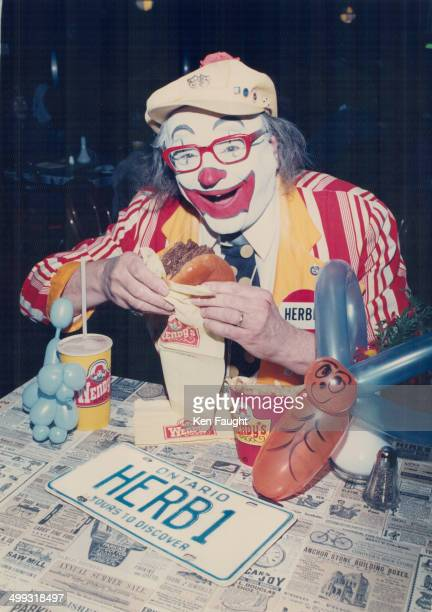 Meet herb Yes it's Herb and yes he's biting into a burger at Wendy's Burger King says they've found Herb but they've got the wrong one Out Herb's...