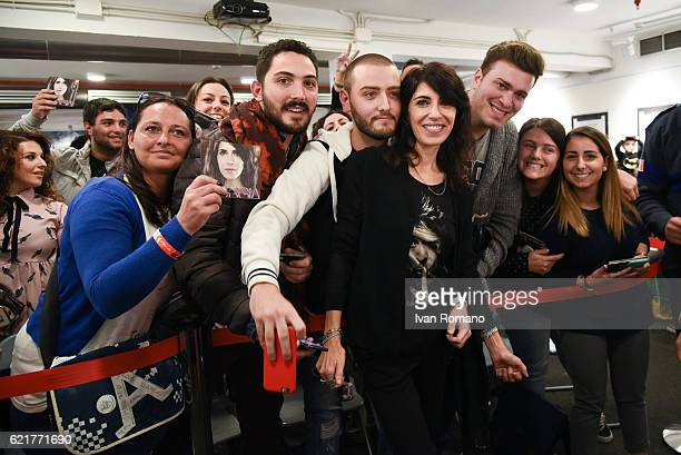 MeetGreet of Italian singer Giorgia at the release of her new album 'Oronero' at Feltrinelli Store of Santa Caterina a Chiaia on November 5 2016 in...