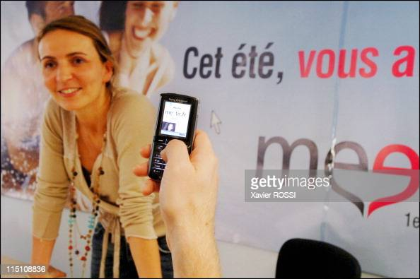 Meetic Europe's biggest online dating business makes its debut on the Paris stock exchange in Boulogne Billancourt France on October 14 2005 Meetic...