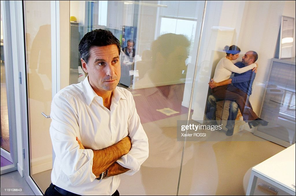 Meetic Europe's biggest online dating business makes its debut on the Paris stock exchange in Boulogne Billancourt France on October 14 2005 Marc...