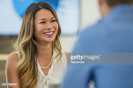 Meeting a New Coworker : Stock Photo