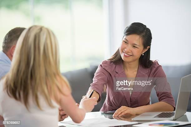 Treffen eine neue Finanzberater