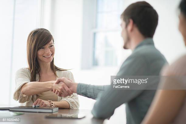 Treffen zu einem potenziellen Kunden