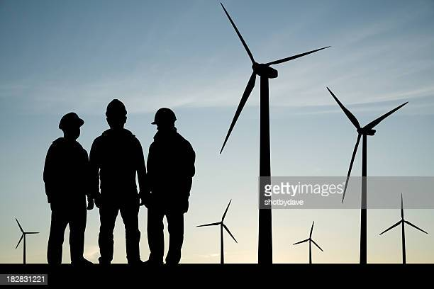 Meeting at Wind Turbines