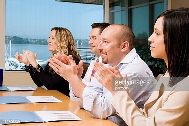 Meeting Attendees Applauding