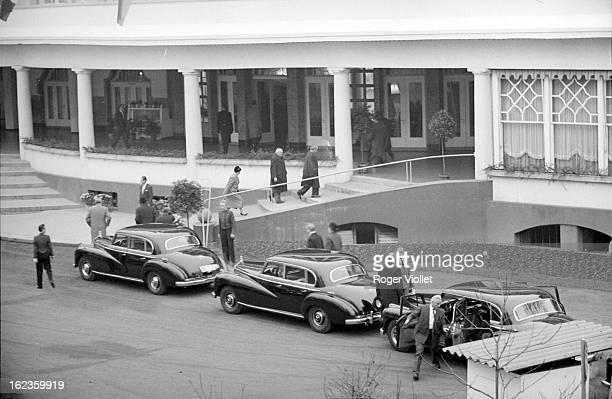Meeting between Charles de Gaulle and Konrad Adenauer at BadKreuznach on November 26 1958
