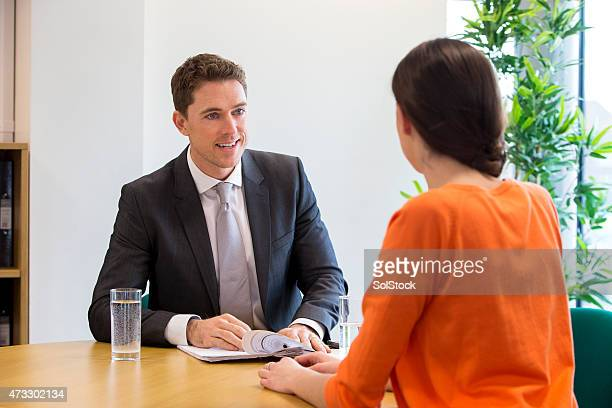 Meeting Between Female Student and Teacher