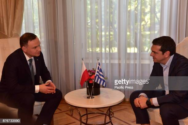 MANSION ATHENS ATTIKI GREECE Meeting between President of the Republic of Poland Andrzej Duda and Greek Prime Minister Alexis Tsipras during their...