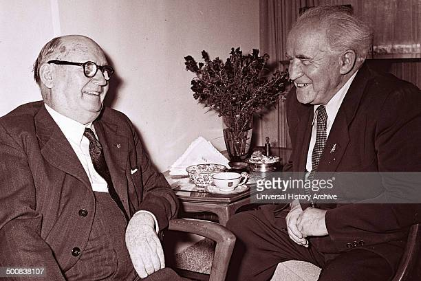 meeting between South African Prime Minister Daniel Francois Malan and Israel's Prime Minister David BenGurion in 1953