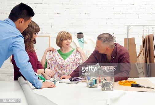 Meeting fashion designer
