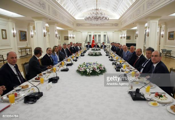 A meeting held in wake of German governments realignment of TurkeyGermany relationship at Cankaya Palace in Ankara Turkey on July 27 2017