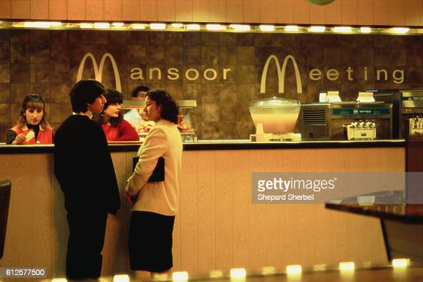 Meeting is a McDonald's style fast food restaurant in Iraq