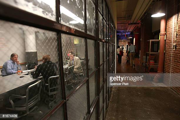 A meeting is held at Google inside the new office space at Chelsea Market June 23 2008 in New York City The new space which is across the street from...