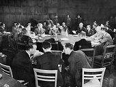 Meeting of Allied foreign ministers at Schloss Cecilienhof Potsdam Germany during the closing moments of World War two 1945