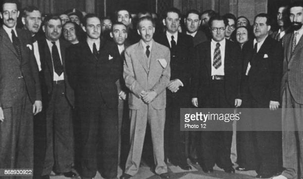 Meeting of Basque leaders during the Spanish Civil War Euzkadi is the name given in 1901 to the Basque country by Sabino Arana the creator of Basque...