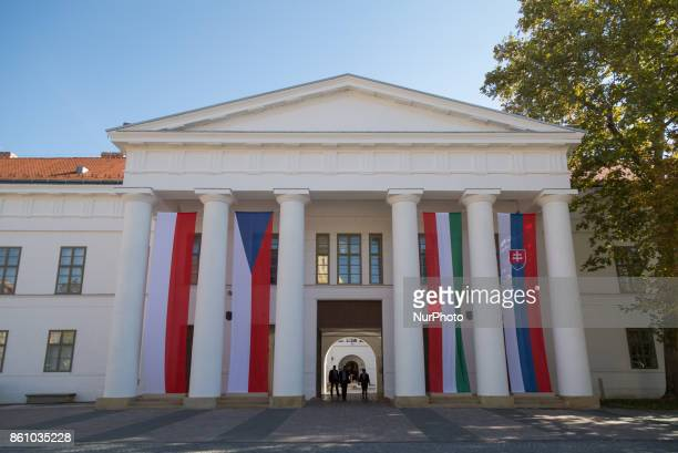 Meeting of heads of state of the Visegrad Group countries in Szekszard Hungary on 13 October 2017