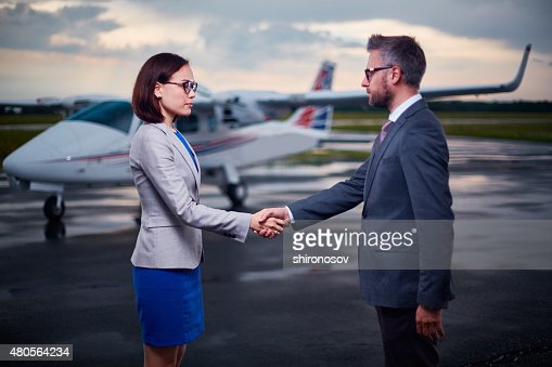 Meeting of partners : Stock Photo