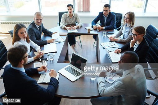 Meeting of shareholders : Stock Photo