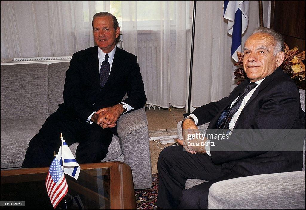 Meeting of Sharmir-Baker in Jerusalem, Israel on September 16, 1991.