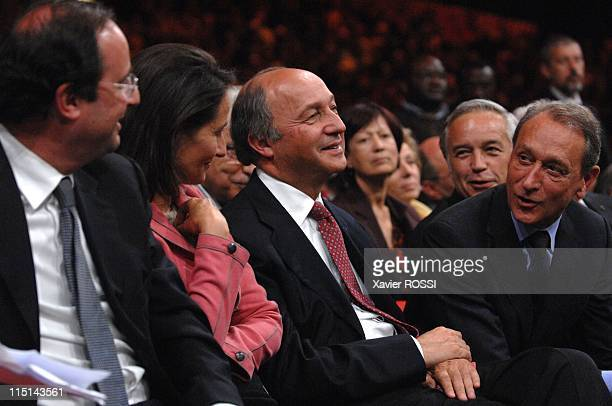 Meeting of Social Party at Zenith for the legislative campaign with Segolene Royal Francois Hollande Dominique StraussKahn and Laurent Fabius in...