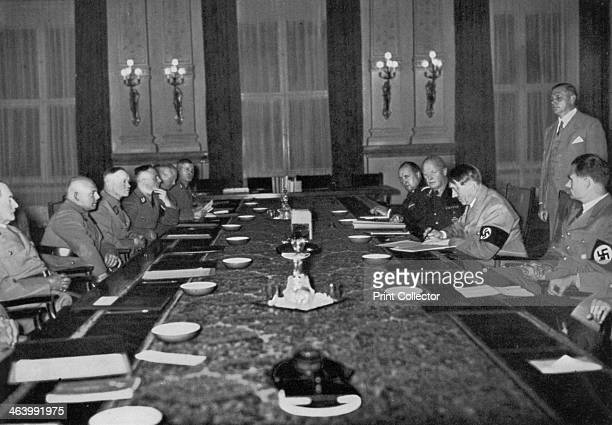 Meeting of the Reichsstatthalter at the Reich Chancellery Berlin Germany 1936 The Reichsstatthalter meeting under the presidency of Nazi leader Adolf...