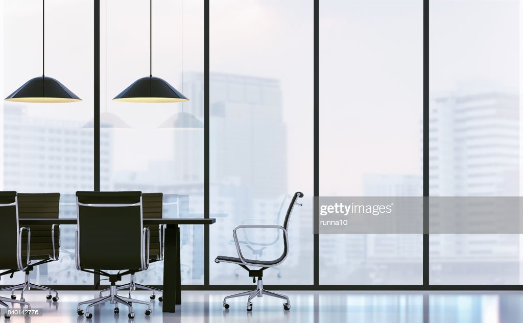 Salle de réunion à limage de rendu d de bureau moderne photo