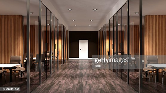 Meeting room. Interior of the modern office in the highlands. : Stock Photo