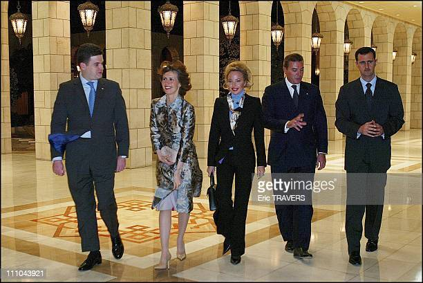 Meeting with Bachar Al Assad and wife Asma in Damas Syria on March 22 2004