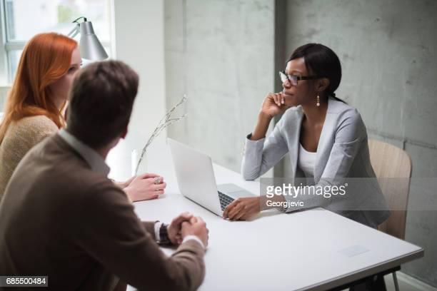 Meeting mit financial advisor