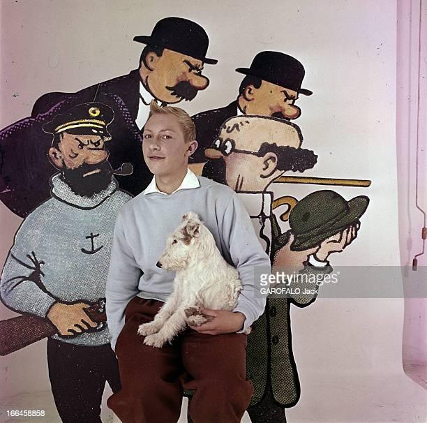 Meeting With JeanPierre Talbot Playing Tintin Belgique années 1960 JeanPierre TALBOT acteur unique ayant incarné le personnage de 'TINTIN' vêtu d'un...