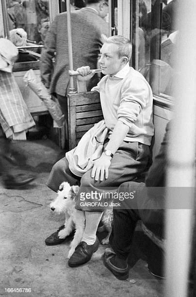 Meeting With JeanPierre Talbot Playing Tintin France 10 octobre 1960 l'acteur belge JeanPierre TALBOT incarne le personnage 'Tintin' sur grand écran...