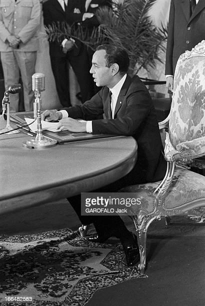 Meeting With King Hassan Ii In Morocco Maroc 21 juin 1963 rencontre avec le roi HASSAN II 22ème monarque de la dynastie alaouite qui règne sur le...