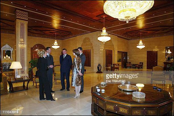 Meeting with President Bachar Al Assad and wife Asma in Damas Syria on March 22 2004