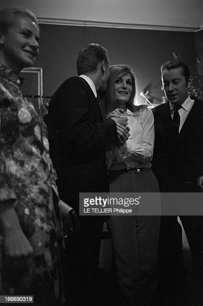 Meeting With Singer Dalida Rehearsing For The Olympia Le 04 octobre 1967 la chanteuse DALIDA se produit a l'Olympia Ici avant le spectacle dans sa...