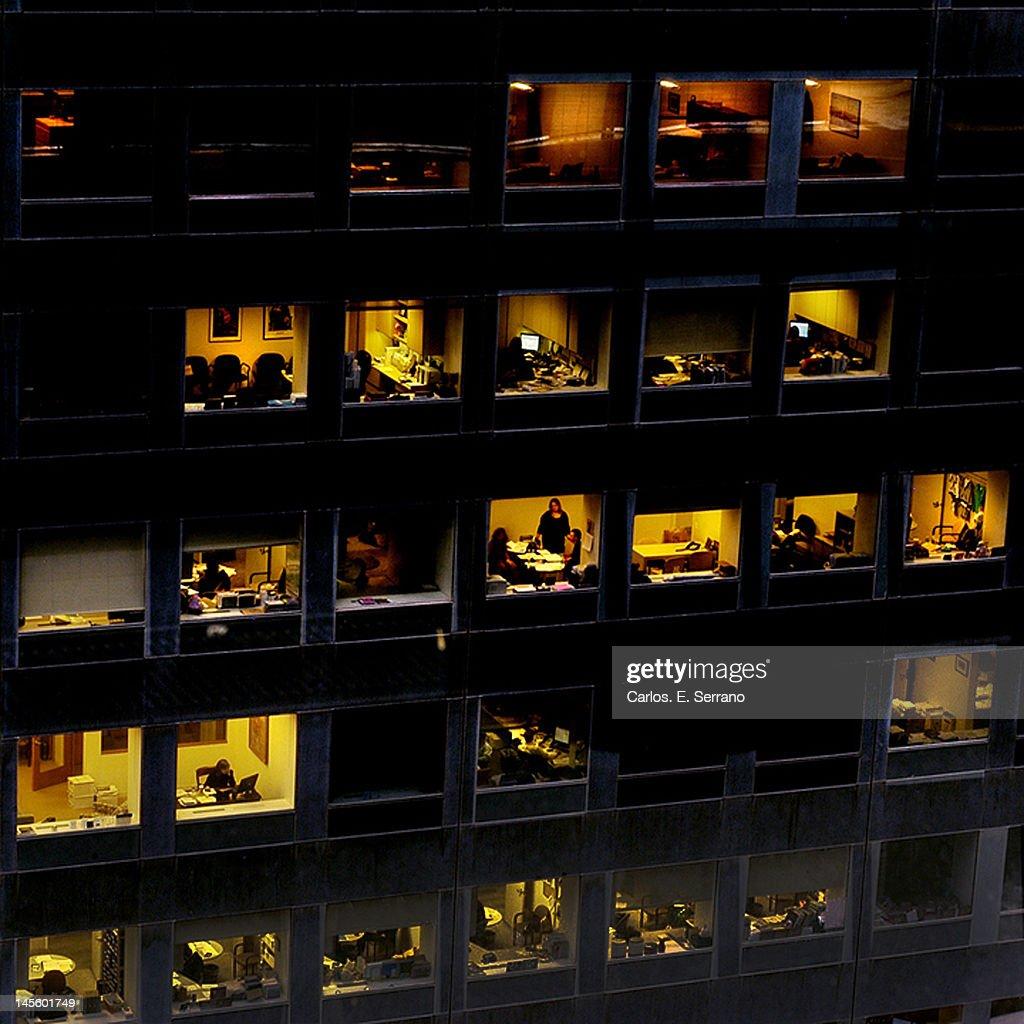 Meetings in New York building : Stock Photo