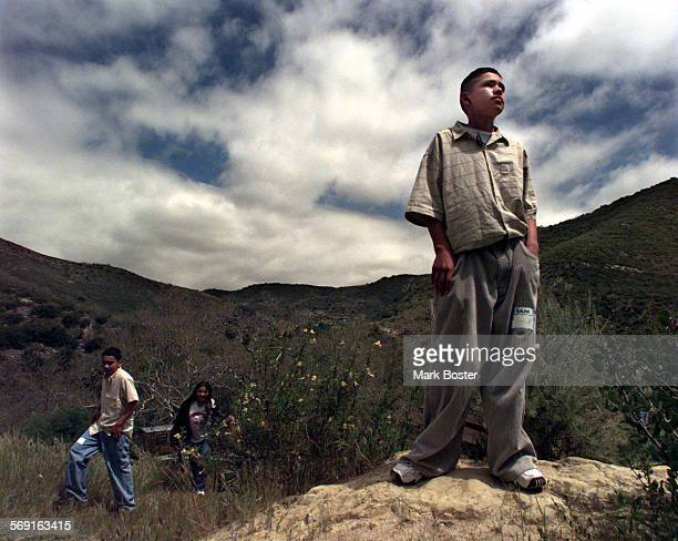 MEExchangeView041399MB–––As he stood high on a rock overlooking Laguna Canyon McFadden Intermediate student Sam Vargas was amazed by the solitude 'we...