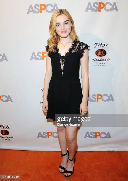 Meg Donnelly attends ASPCA After Dark cocktail party at The Plaza Hotel on April 20 2017 in New York City
