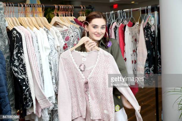 Meg Donnelly attends Kari Feinstein's Style Lounge presented by Ocean Spray on September 15 2017 in Los Angeles California