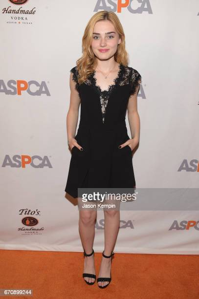 Meg Donnelly attends the ASPCA After Dark cocktail party hosted by Lucy Hale at The Plaza Hotel on April 20 2017 in New York City