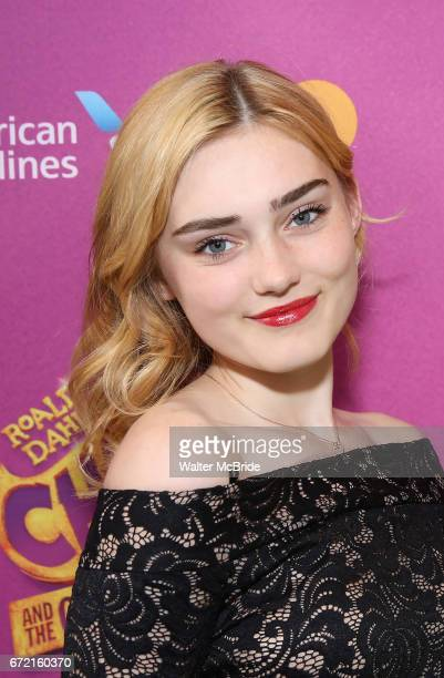 Meg Donnelly attends the Broadway Opening Performance of 'Charlie and the Chocolate Factory' at the LuntFontanne Theatre on April 23 2017 in New York...