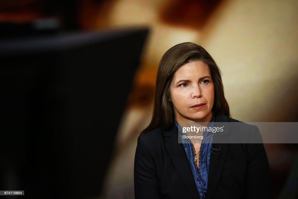 Meg Gentle, chief executive officer of Tellurian Investments Inc., listens during a Bloomberg Television interview in New York, U.S., on Tuesday, Nov. 14, 2017. Gentle discussed the company's deal with Bechtel for the Driftwood LNG project. Photographer: Christopher Goodney/Bloomberg via Getty Images
