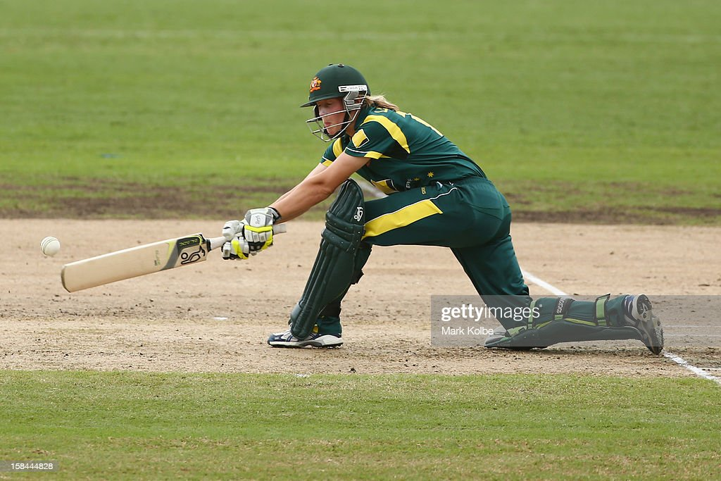 Meg Lanning of Australia bats during game three of the One Day International series between the Australian Southern Stars and New Zealand at North Sydney Oval on December 17, 2012 in Sydney, Australia.