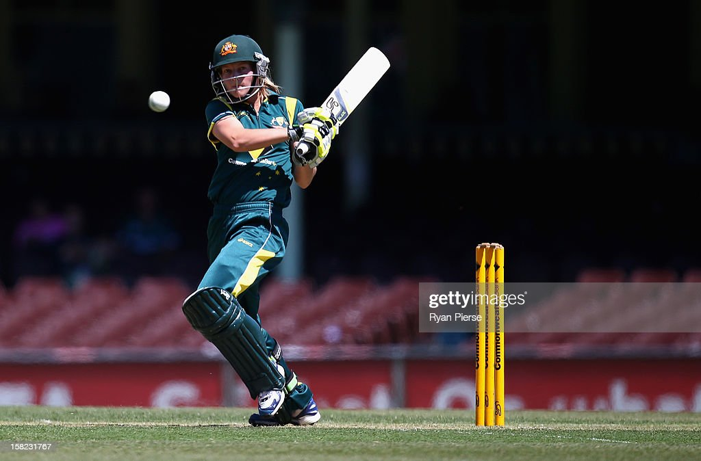 Meg Lanning of Australia bats during the first Rose Bowl Series One Day International match between Australia Southern Stars and New Zealand Silver Ferns at the Sydney Cricket Ground on December 12, 2012 in Sydney, Australia.
